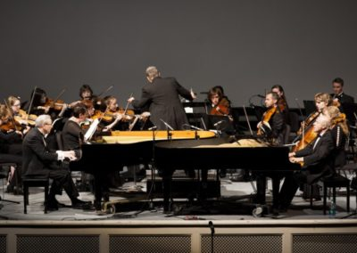 Performing Mozart's Two Piano Concerto with the Master's College Orchestra, California ~ 2015