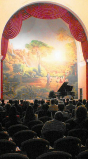 Performing at the Italian Cultural Center, Budapest, Hungary